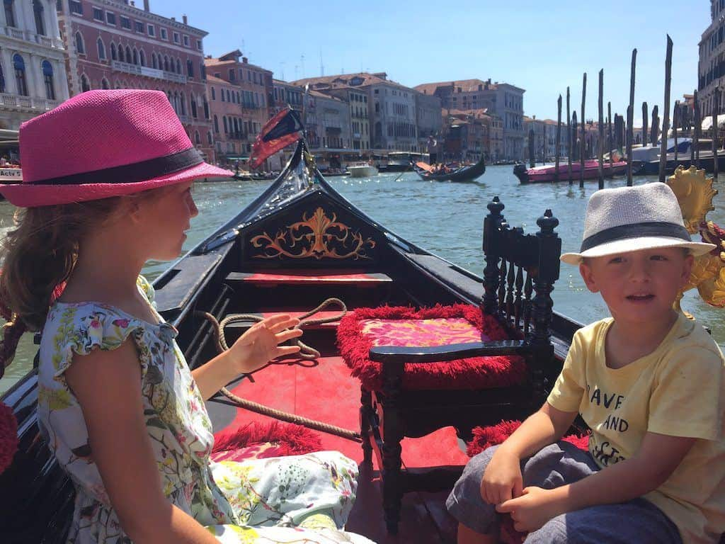 Gondola Venice with kids