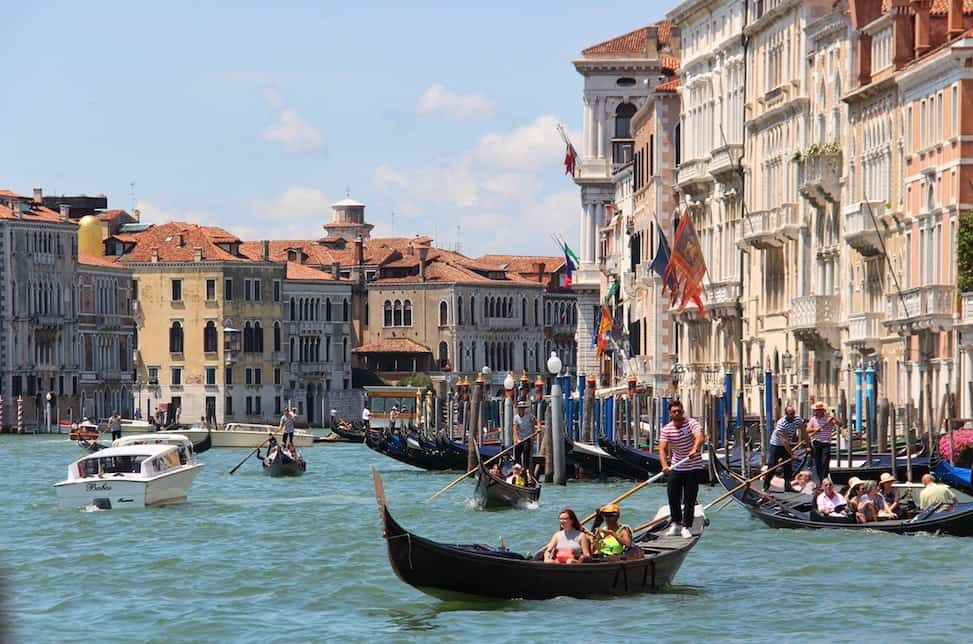 Grand Canal Venice with kids