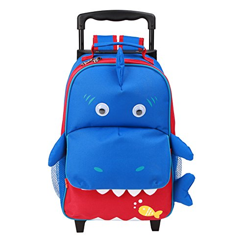 The clever design allows you to hide the shoulder straps when you are using  it as a kids trolley suitcase 907cf1718fe13