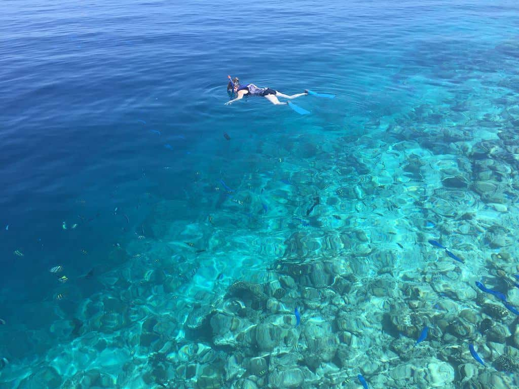 soneva fushi snorkelling