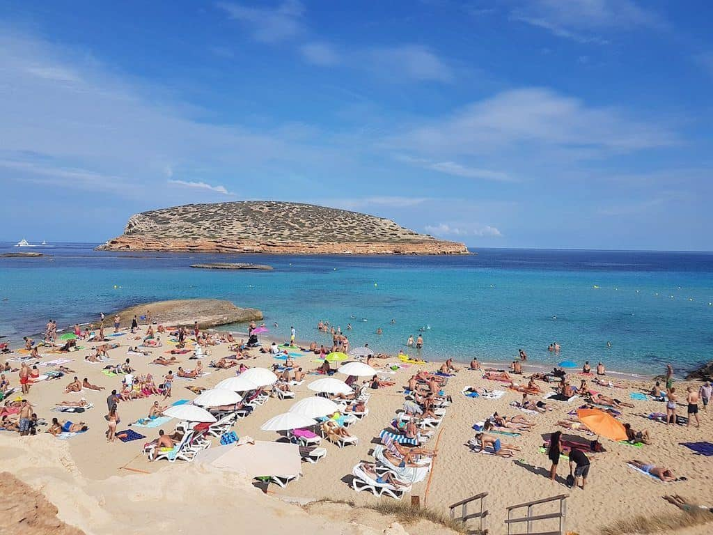 beach in Ibiza for families