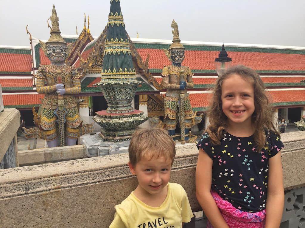 Grand Palace Bangkok with kids