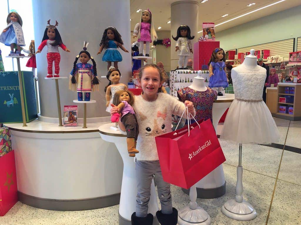 American Girl Doll store Christmas shopping NYC