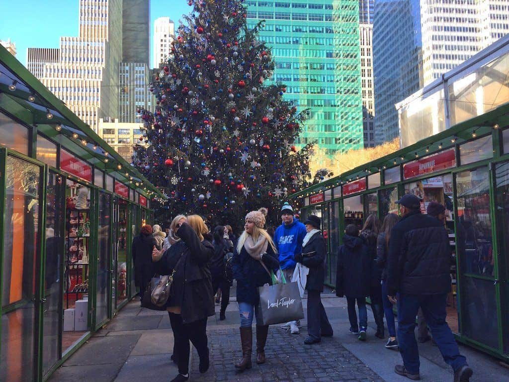 Bryant Park winter village NYC