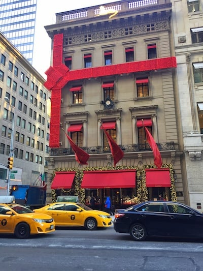 Christmas in New York store