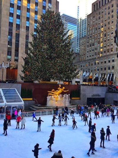 Xmas in NYC Rockefeller Center tree