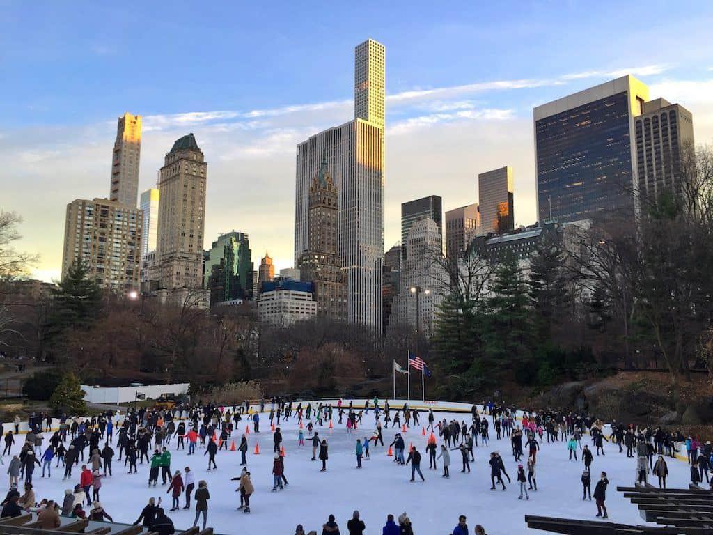 Central park Christmas skating