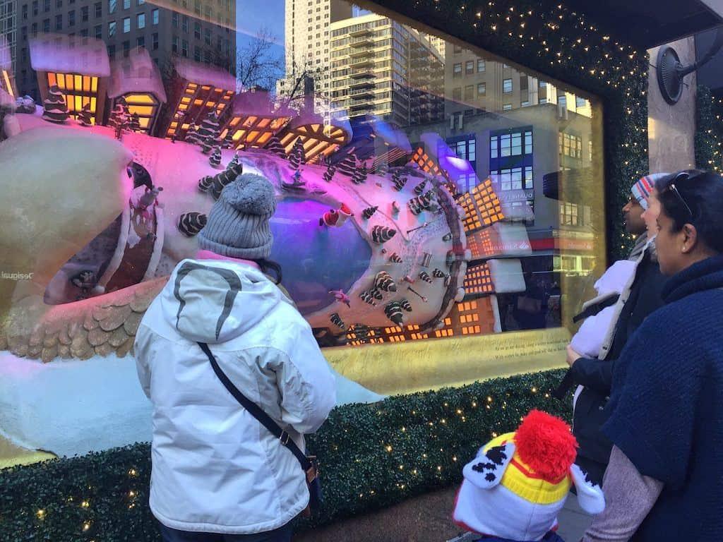 New York Christmas store window displays