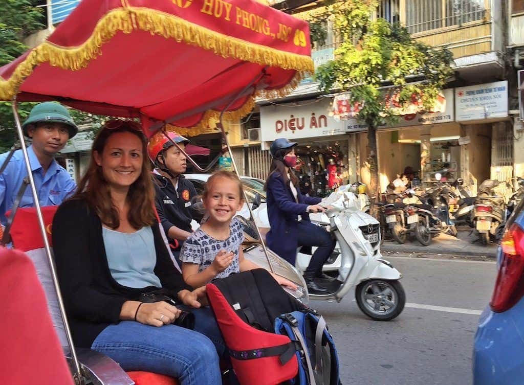 Cyclo tour Hanoi with Kids