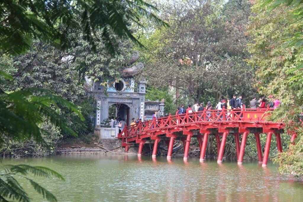 Hoan Kiem lake hanoi with kids