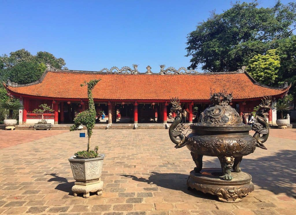 Temple of Literature Hanoi with kids