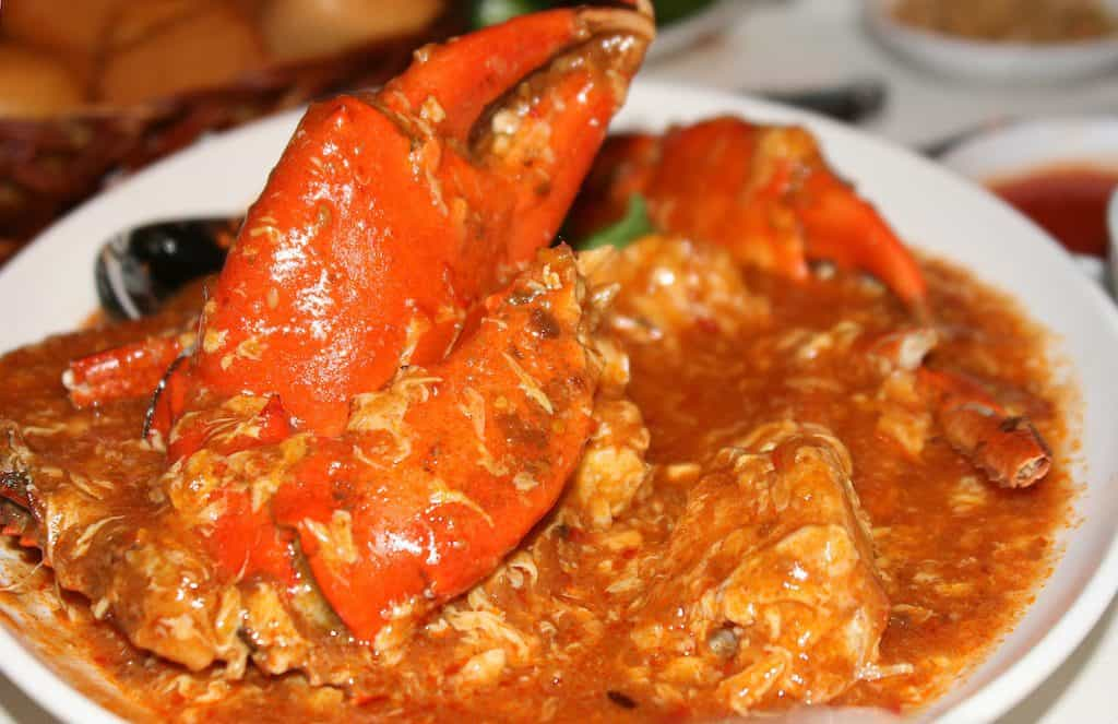 Chilli crab in Singapore