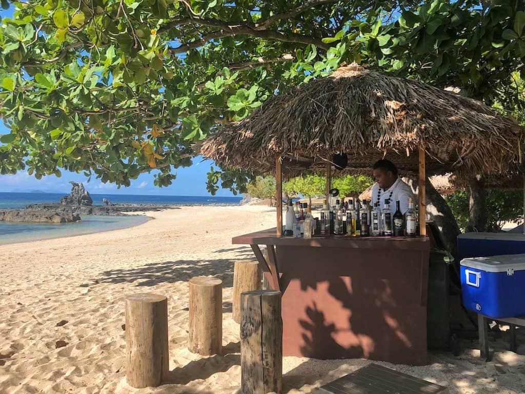 Castaway Island Fiji beach bar
