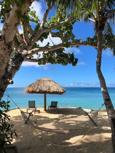 Castaway island Fiji hammock