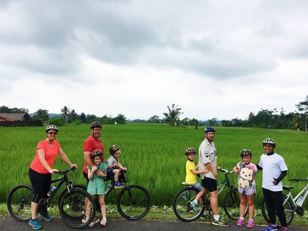 Biking Riding Tour in Ubud with Kids