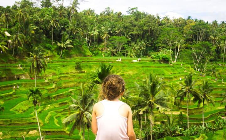 Tagalalang Rice Terraces Bali with kids