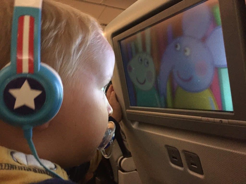 entertaining toddler on plane