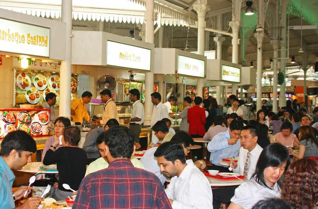 Singapore hawker centre for cheap food in Singapore