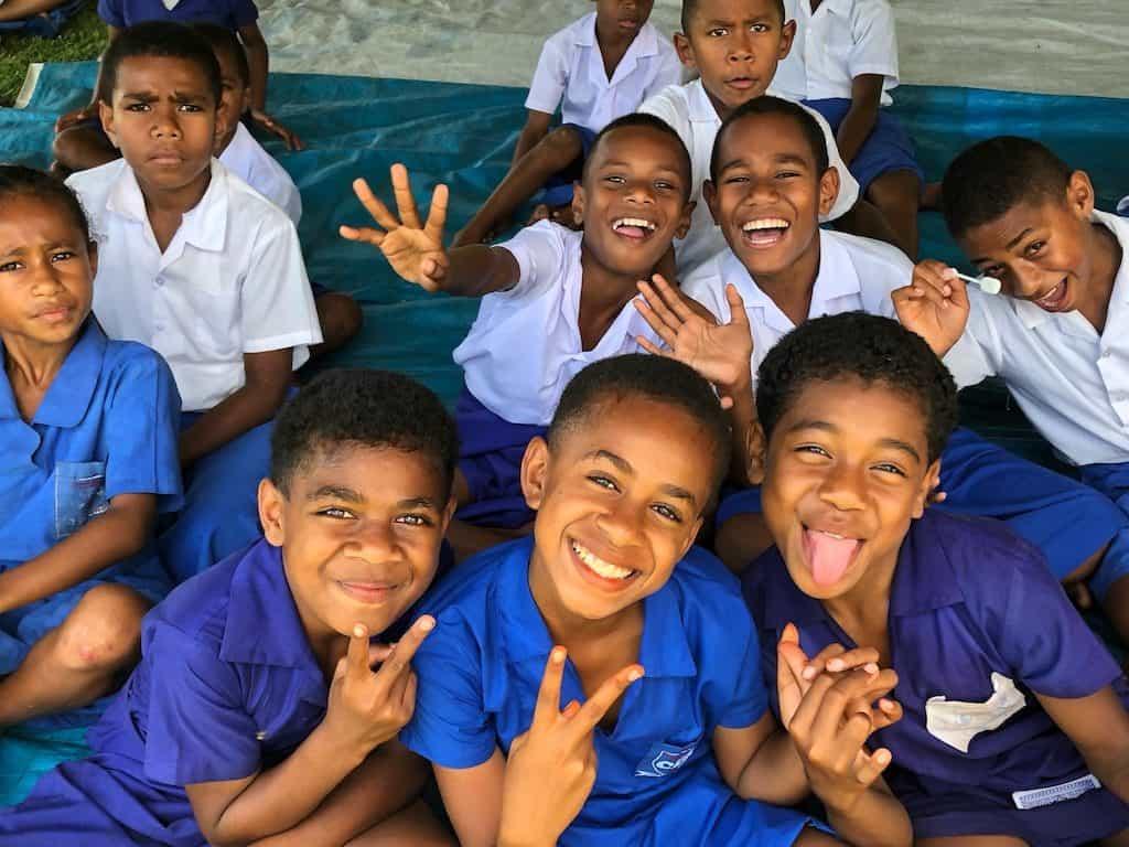 School visit Fiji