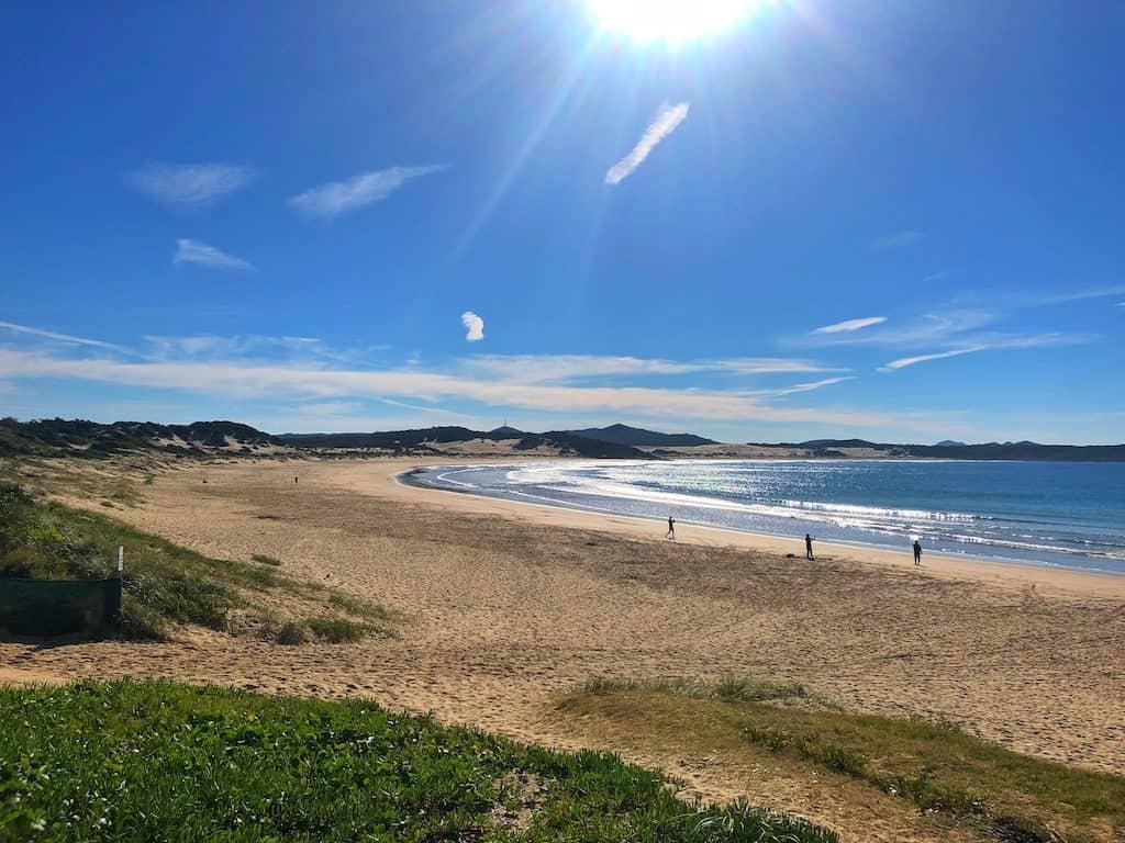 One Mile beach Port Stephens