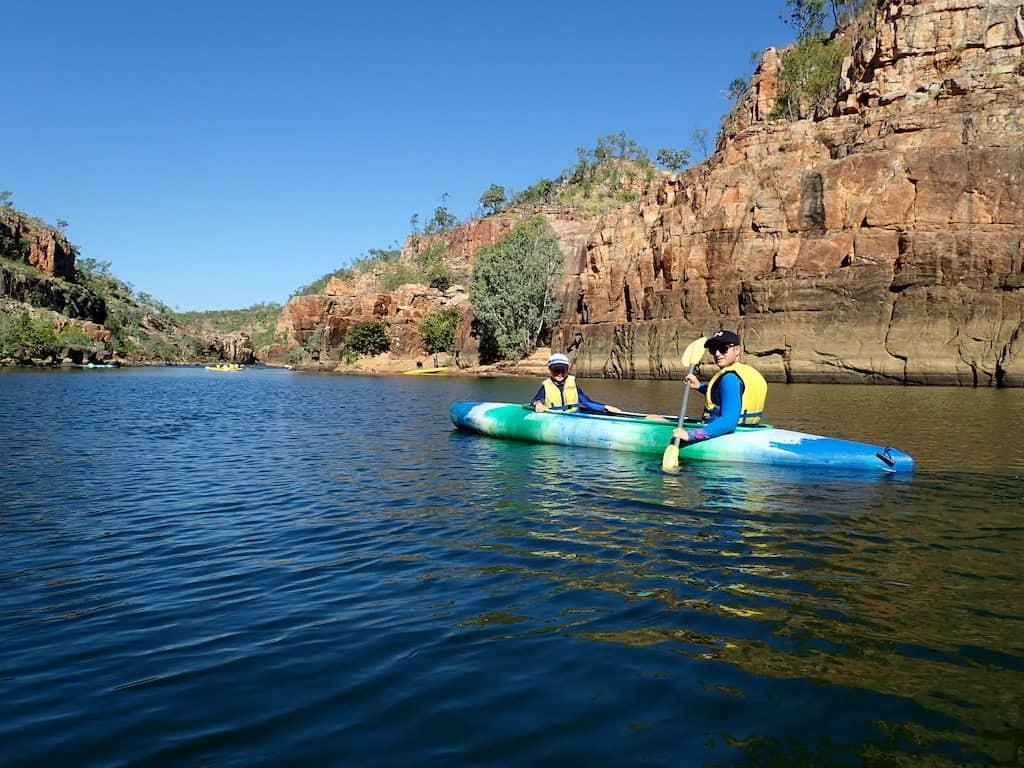 Kayaking Katherine Gorge