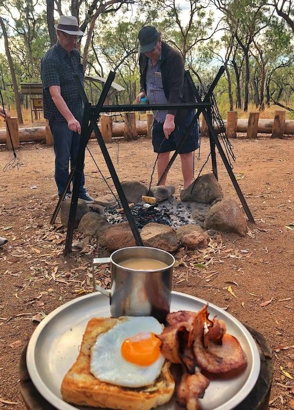 Undara Bush breakfast