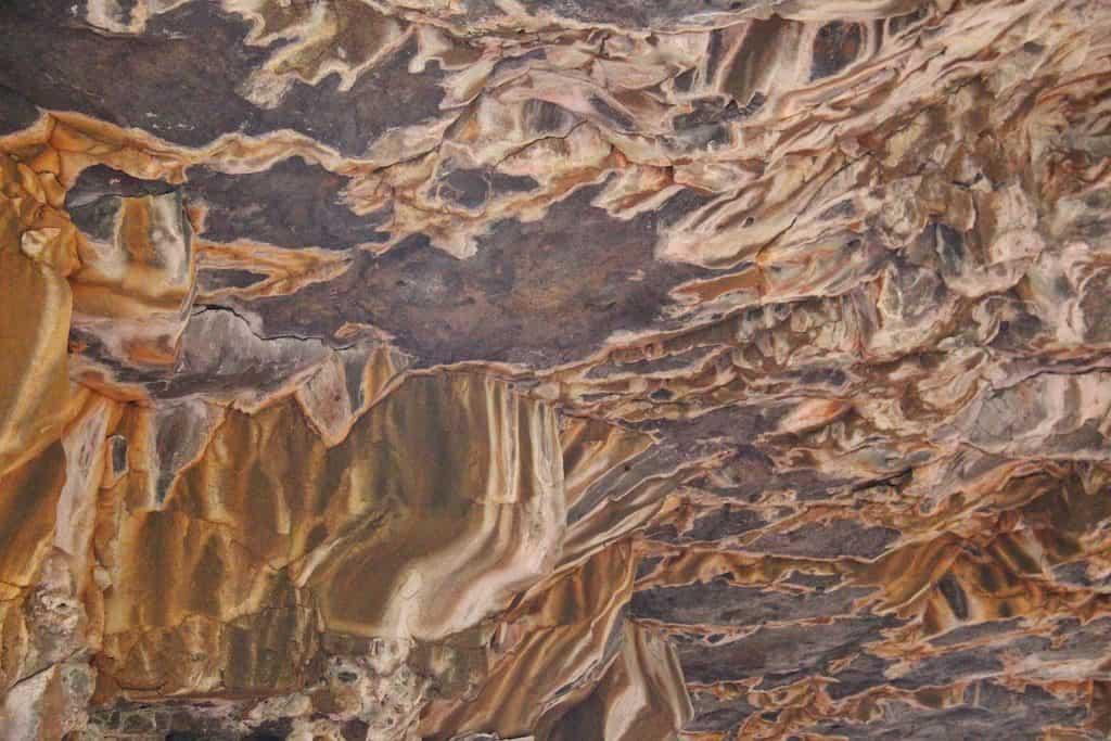 Undara caves ceiling