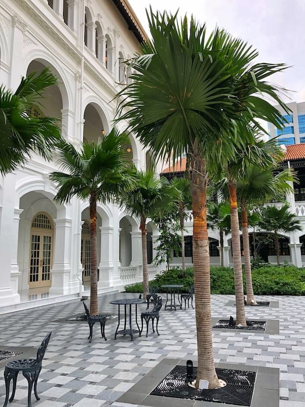 Raffles hotel palm court
