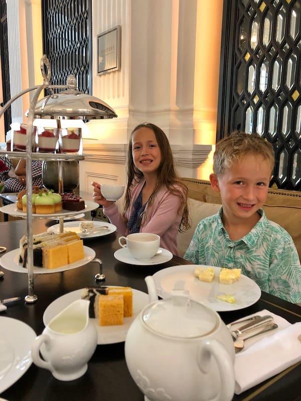 Raffle Hotel afternoon tea