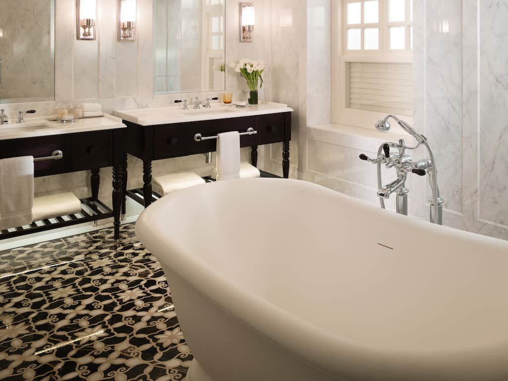 Raffles hotel bathroom