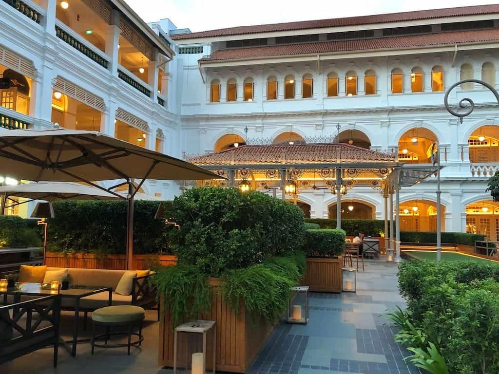 Raffles courtyard bar