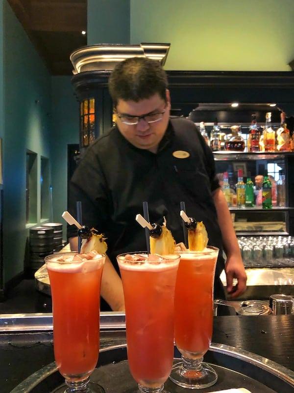 Singapore slings Raffles Hotel Long Bar