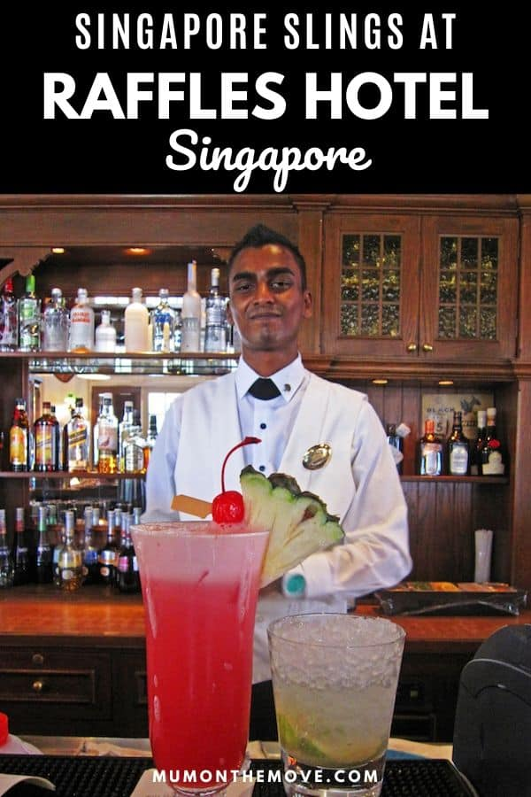 Singapore Slings Raffles hotel Long Bar