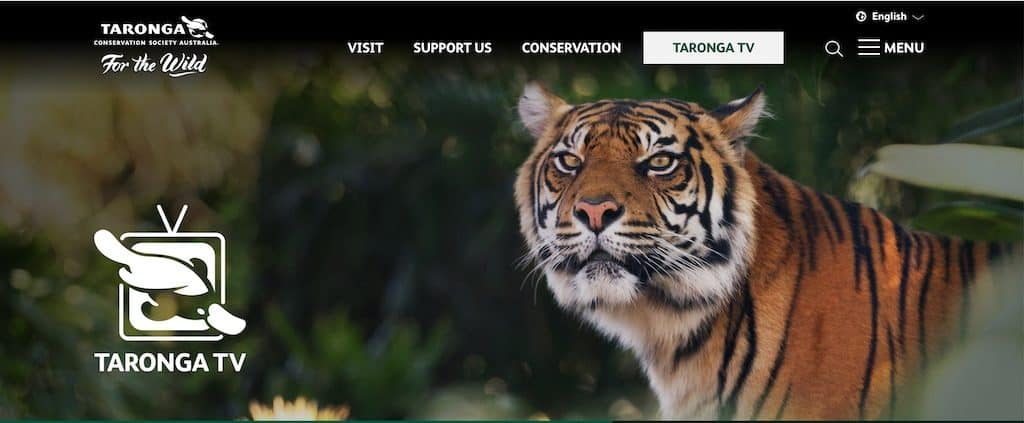 Taronga TV screenshot