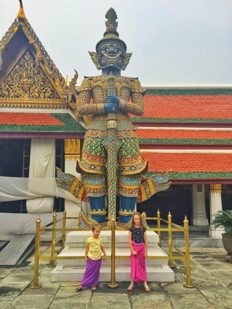 Kids at Grand Palace Bangkok