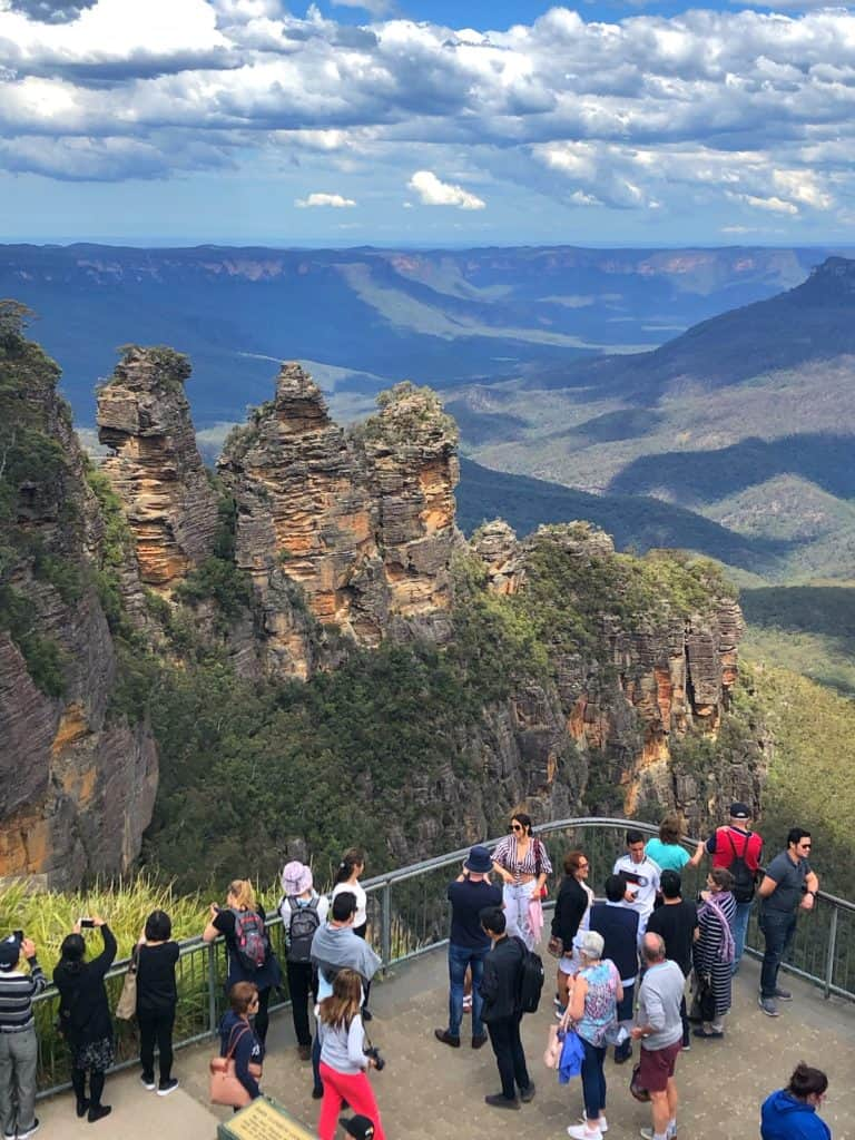 Echo Point Lookout with Three Sisters Blue Mountains