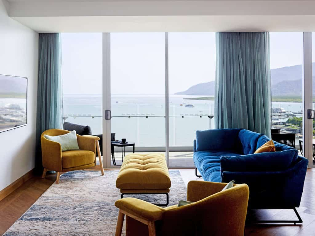 Flynn hotel Cairns living room of residence