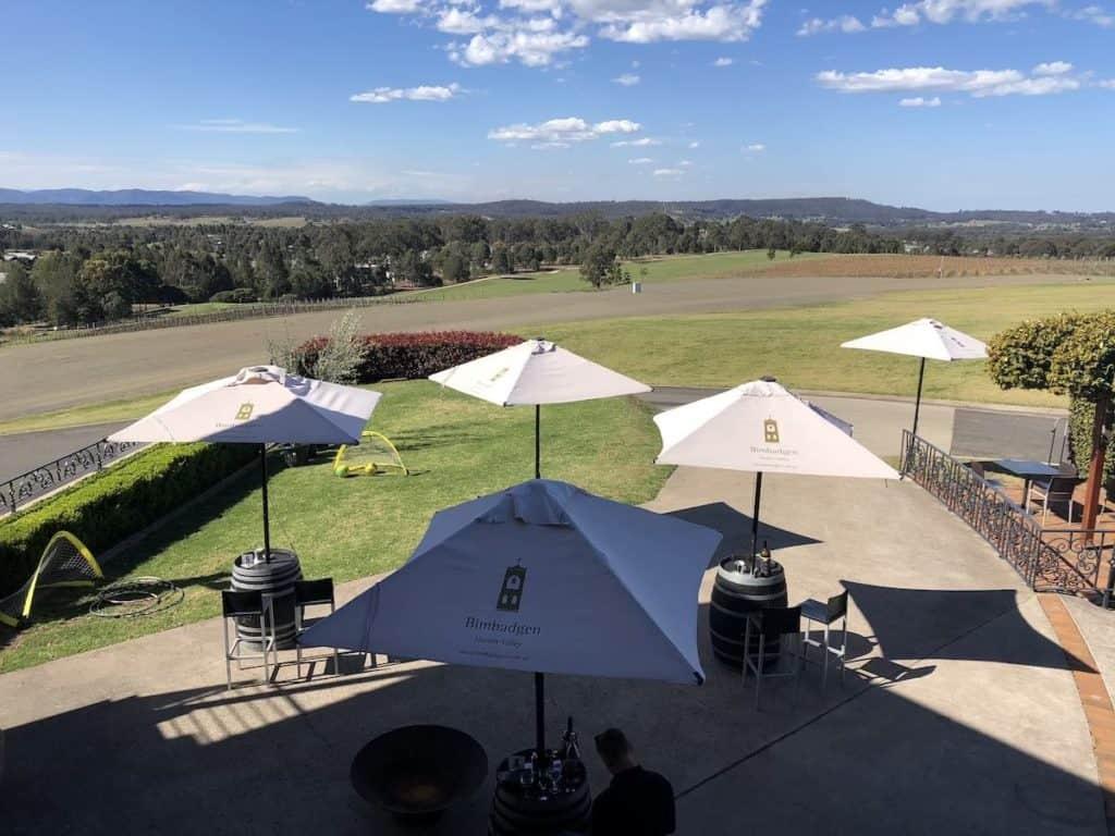 View from the restaurant at Esca Bimbadgen Hunter Valley