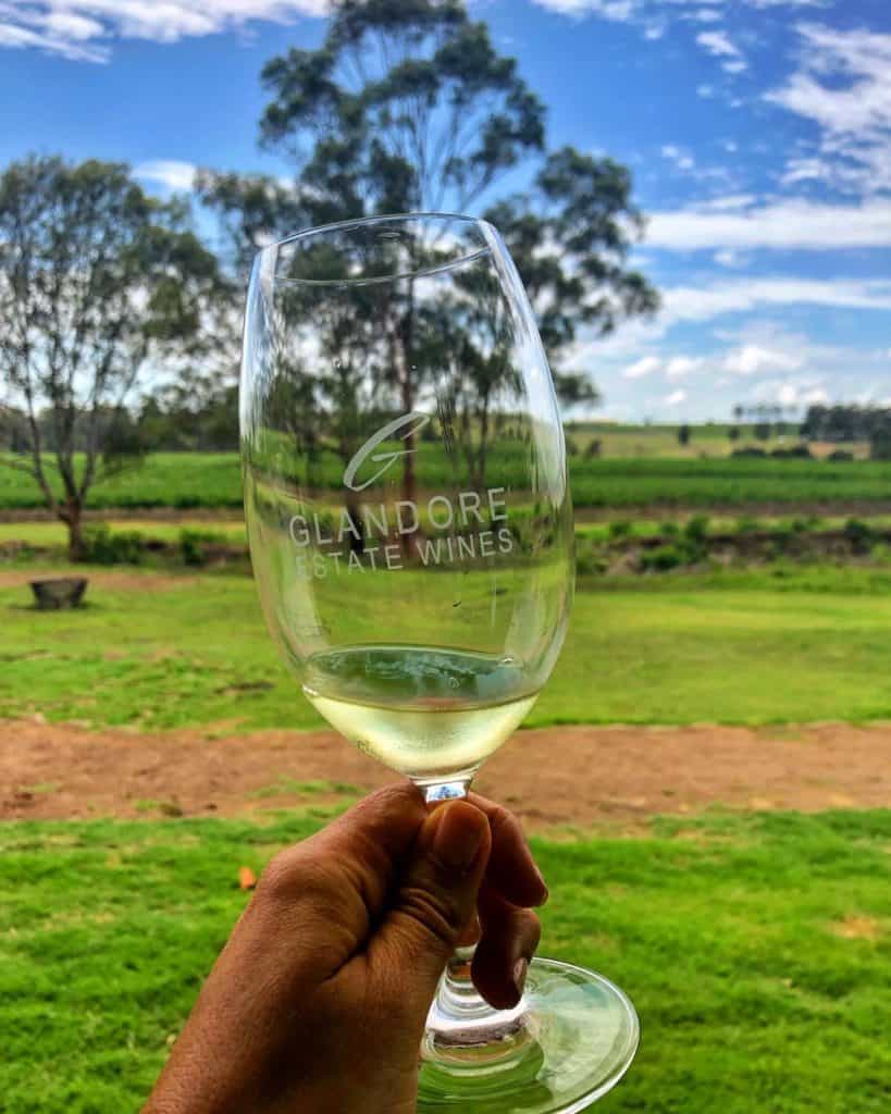 Wine tasting at Glandore Estate hunter valley