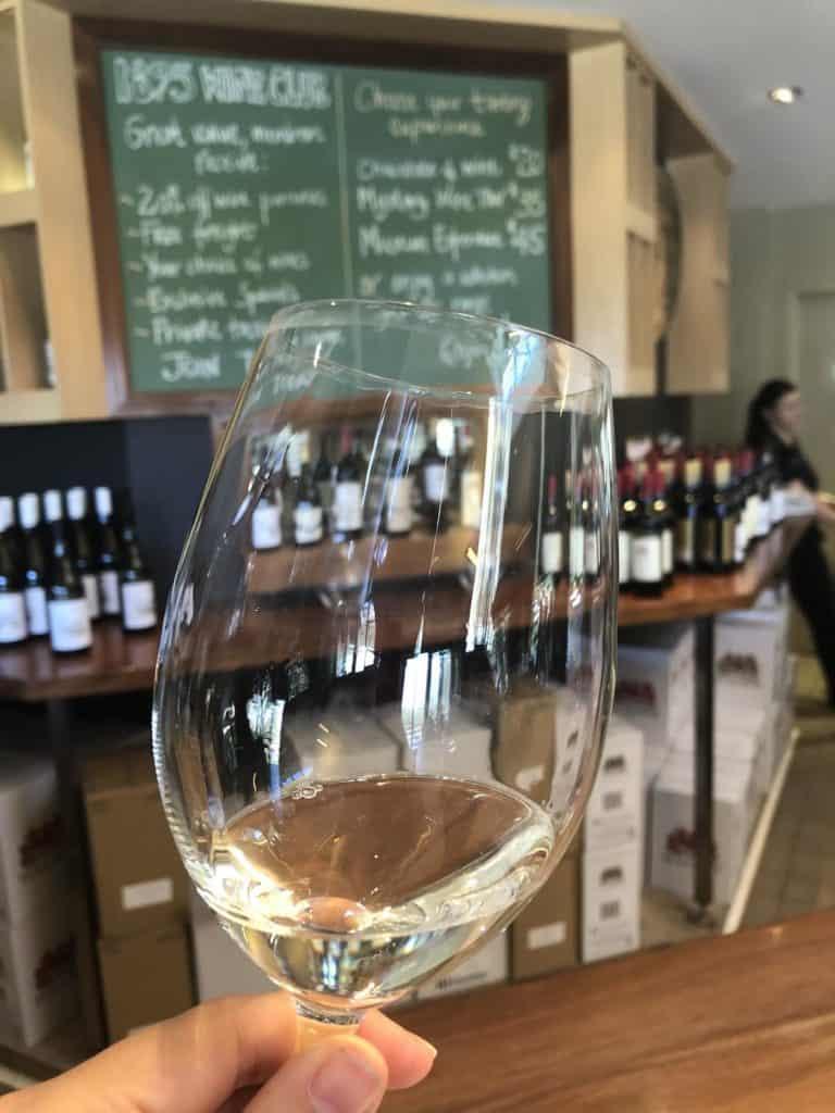 Wine tasting in Hunter Valley winery