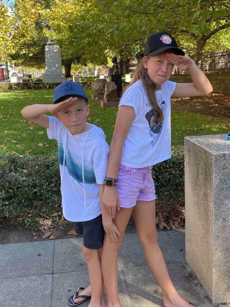 kids on Adelaide scavenger hunt