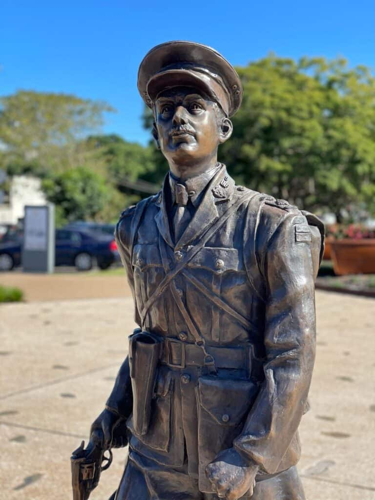 Statue of Duncan Chapman at the Gallipoli to Armistice memorial.