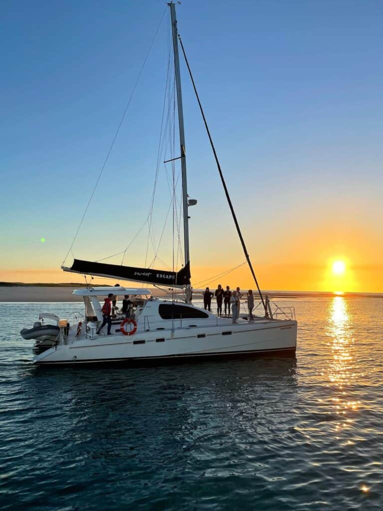 Sunset cruise in Hervey Bay