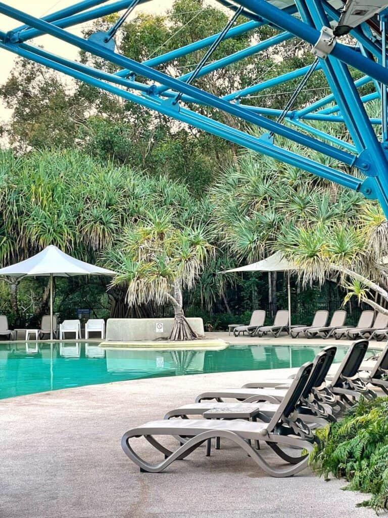 Swimming pool at Kingfisher Bay Resort Fraser Island