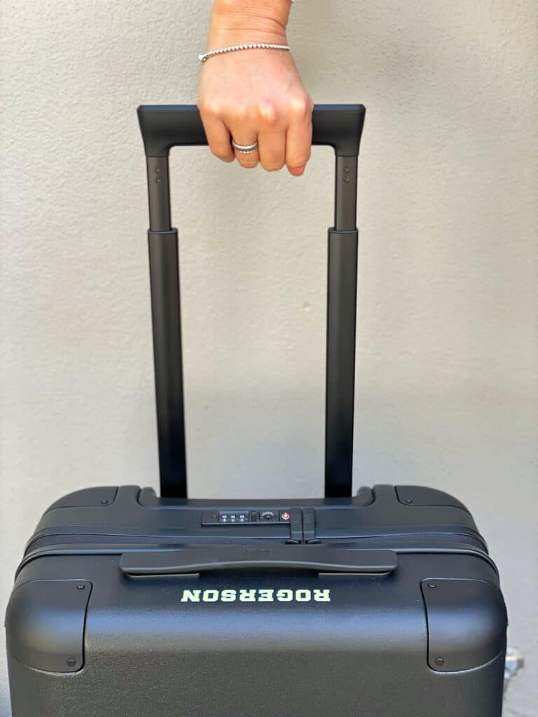 Handle on July Carry On Suitcase