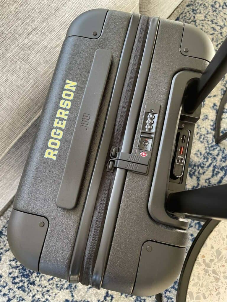 Personalisation on July Carry On Suitcase