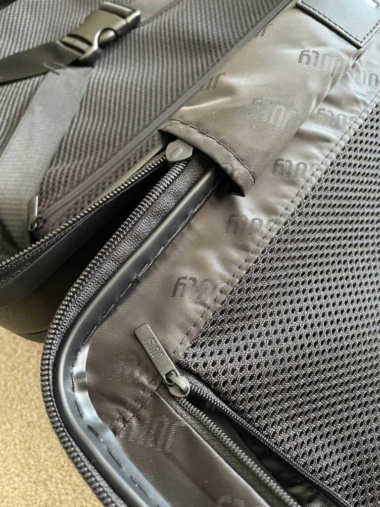 Zips and lining on July Carry On Suitcase